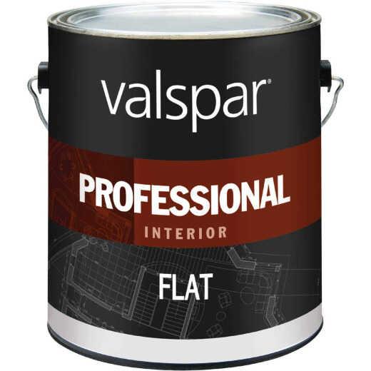 Valspar Professional Latex Flat Interior Wall Paint, High Hide White, 1 Gal.