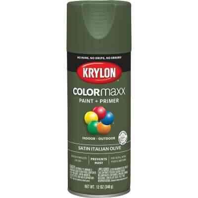 Krylon ColorMaxx 12 Oz. Satin Spray Paint, Italian Olive