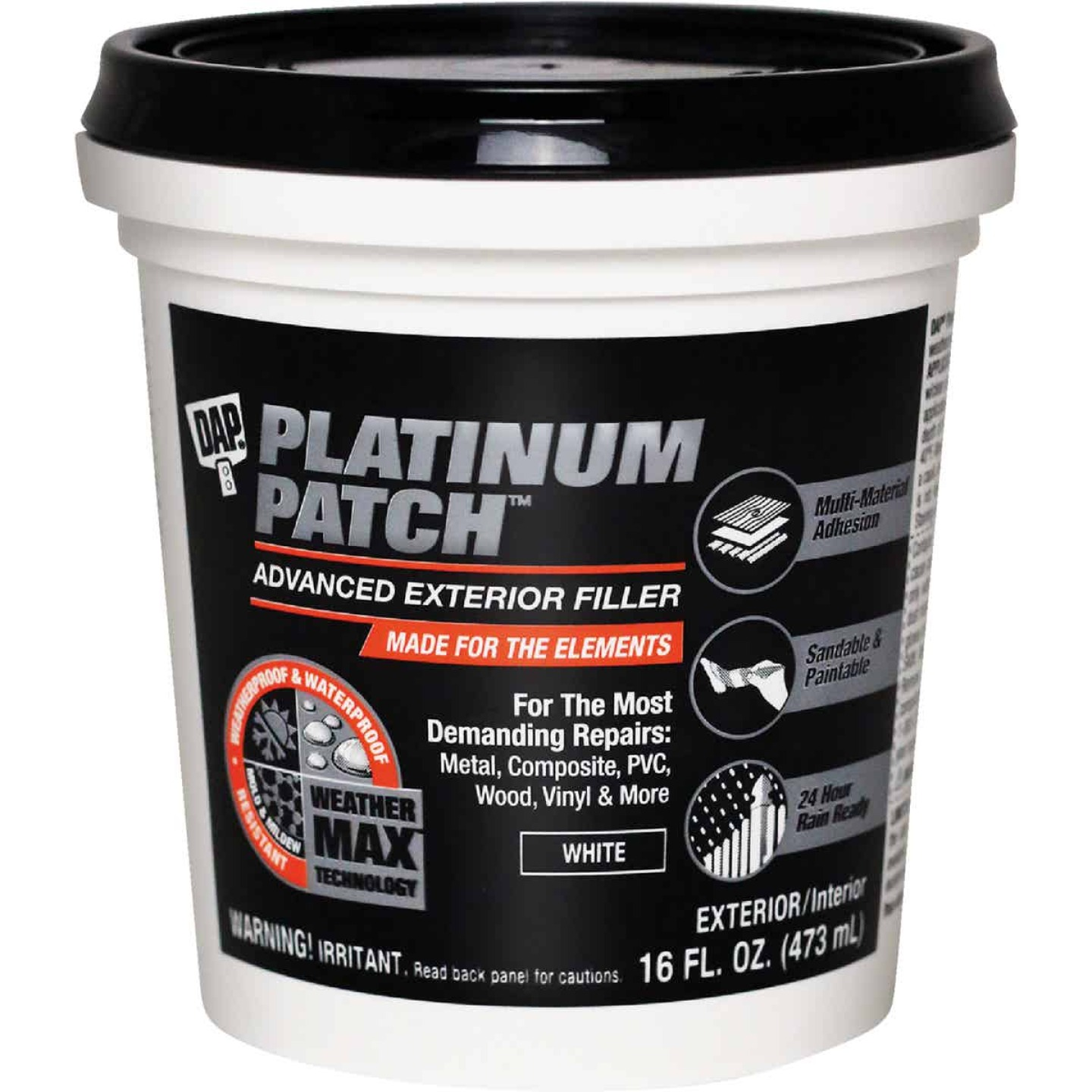 Dap Platinum Patch 16 Oz. Advanced Interior/Exterior Spackling Filler Image 1