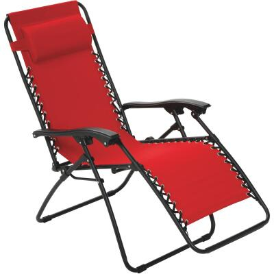 Outdoor Expressions Zero Gravity Relaxer Red Convertible Lounge Chair