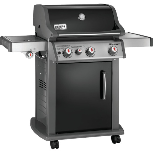 Weber Spirit E-330 3-Burner Black 39,500-BTU LP Gas Grill with 12,000-BTU Side -Burner