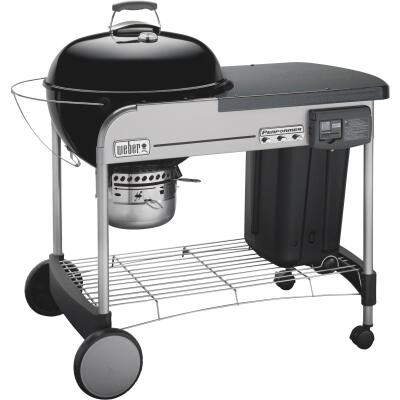 Weber Performer Deluxe 22 In. Black Charcoal Grill