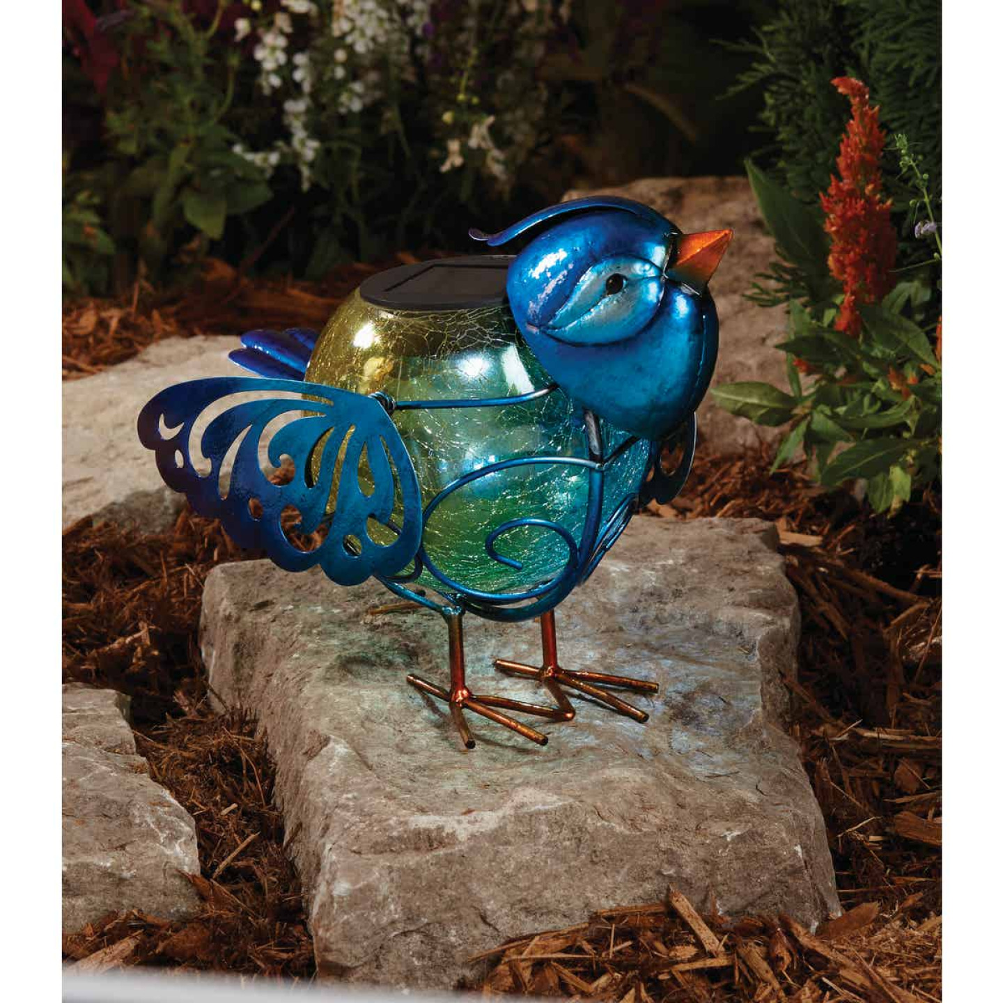 Outdoor Expressions 6 In. W.x 7.5 In. H. x 10 In. D. Bird Solar Light Image 2