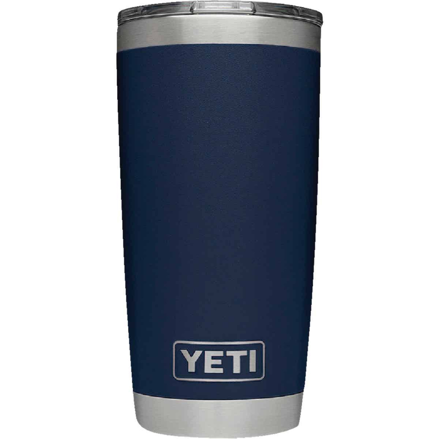 Yeti Rambler 20 Oz. Navy Blue Stainless Steel Insulated Tumbler with MagSlider Lid Image 3
