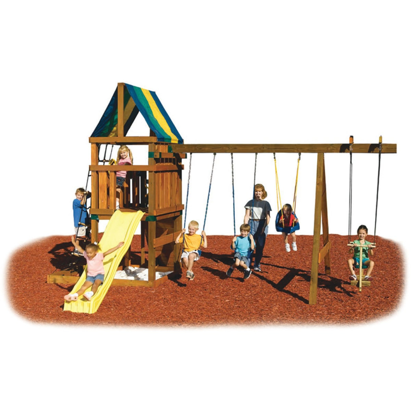 Swing N Slide Alpine Custom Ready-To-Build Swing Set Kit Image 1