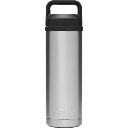 Yeti Rambler 18 Oz. Silver Stainless Steel Insulated Vacuum Bottle with Chug Cap
