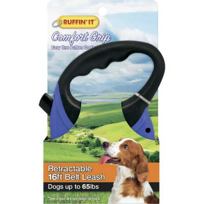 Westminster Pet Ruffin' it 16 Ft. Cord Up to 65 Lb. Dog Retractable Leash