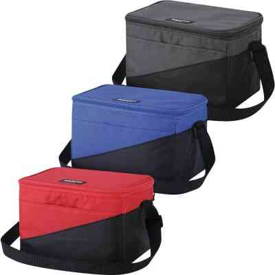 Igloo Collapse & Cool 6-Can Soft-Side Cooler, Red & Black