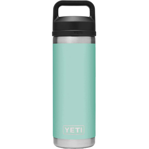 Yeti Rambler 18 Oz. Seafoam Stainless Steel Insulated Vacuum Bottle with Chug Cap