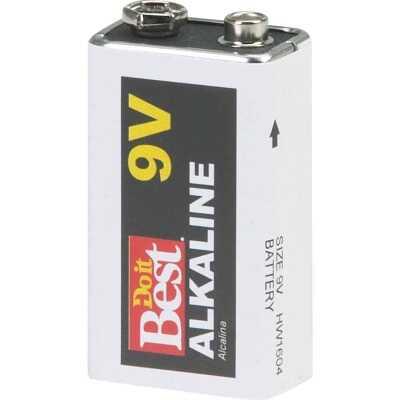 Do it Best 9V Alkaline Battery (4-Pack)