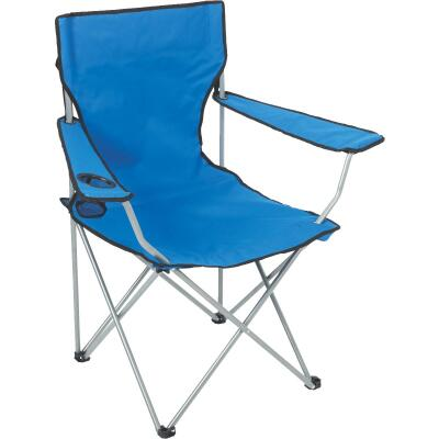 Outdoor Expressions Blue Polyester Folding Chair