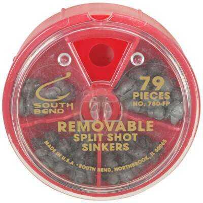 SouthBend 79-Piece Removable Split Shot Sinker Kit Assortment