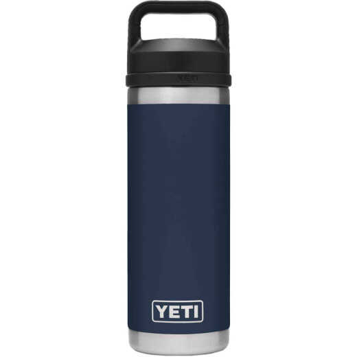 Yeti Rambler 18 Oz. Navy Stainless Steel Insulated Vacuum Bottle with Chug Cap