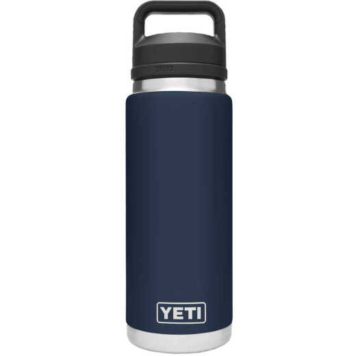 Yeti Rambler 26 Oz. Navy Stainless Steel Insulated Vacuum Bottle with Chug Cap